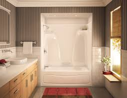 one piece and wall unit bath acts 3p 3360 alcove or tub showers bathtub akermaax in cly