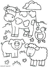 Printable Animal Coloring Pages For Toddlers Barnyard Animals