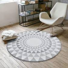 nordic gray series round carpets for living room computer chair area rug children play tent floor mat cloakroom rugs and carpets d19011201 interface carpet