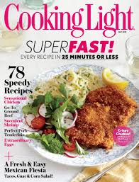 Cooking Light Fresh Food Superfast Cooking Light Magazine Only 19 99 2 Years Best Deal