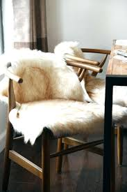 ivory beige white faux sheepskin fur rug chair cover for remodel 7