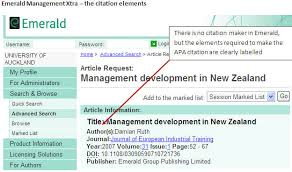 apa referencing a guide for business students beis the  citation elements in an emerald article