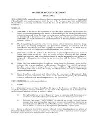 Franchise Agreement Form Canada Master Franchise Agreement Legal Forms and Business 2