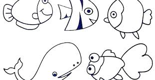 Sea Animals Coloring Pages For Toddlers Ocean Coloring Pages For