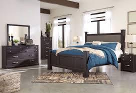 reylow brown king poster bed