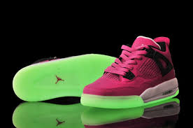 jordan shoes for girls black and white. girls jordan 4 vivid pink/black-white glow-in-the-dark sole shoes for black and white k