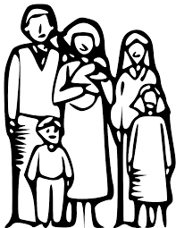group of people clipart black and white. Brilliant Black Family Clipart 6 People  Panda  Free Images Inside Group Of Black And White T