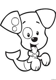 раскраска щенок пузырёк