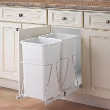 17 Kitchen Cabinet Garbage Drawer Rev A Shelf Double Bin Stainless