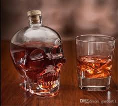 2019 skull drinking glasses vodka whiskey shot creative style drinking bottles home bar glasses drink cocktail beer crystal cups g060 from garden01