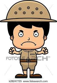 zookeeper clipart.  Clipart A Cartoon Zookeeper Boy Looking Angry Throughout Zookeeper Clipart E