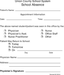 Doctors Note Template Pdf Free Doctors Note Template Pdf 41kb 1 Page S