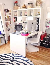 Image Office Makeover Ikea Expedit Desk In Home Office With Zebra Rug And Panton Chair love Pinterest Ikea Expedit Desk In Home Office With Zebra Rug And Panton Chair In