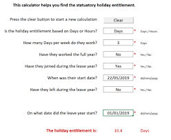 Hour Sheet Calculator Free Holiday Entitlement Calculator To Work Out Uk Holiday
