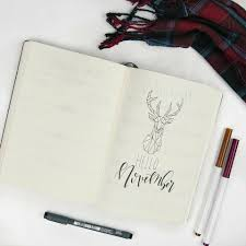 bullet journal diy sketches cover pages notebook ideas bullets hand lettering journals november planners