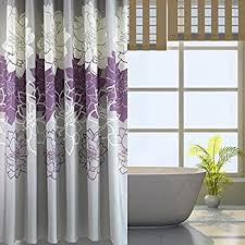 purple and gray shower curtain. gray background and flowers pattern ,mildew proof waterproof washable printed polyester fabric shower curtain purple g