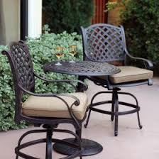 counter height patio furniture small. darlee nassau 3 piece cast aluminum patio counter height bar set with swivel stools furniture small
