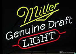 Miller Display Light 2019 Fashion New Handcraft Miller Genuine Draft Light Real Glass Beer Bar Display Neon Sign 19x15 Best Offer From Zenghuanlong 120 61