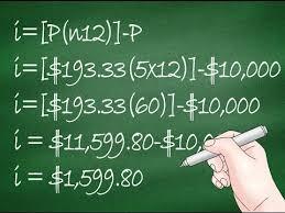 Loan Interest Calculation Formula Loan Interest Calculation