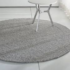 sweetlooking crate and barrel round rug markus 6 5 grey