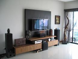 Lcd Tv Furniture For Living Room Living Room Home Interior Entertainment Tv Set On Rustic Corner