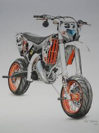 my drawing of a ktm 125 exc