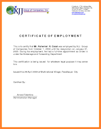 Sample Certificate Of Employment For Private Caregiver Save Sample