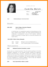 Undergraduate Student Cv Example 5 Cv Samples For Undergraduate Students Theorynpractice