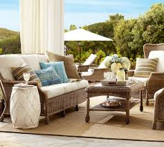 perfect pottery barn outdoor tables with fabulous seating sets lovely woven rattan pottery barn outdoor