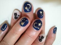 こだわりの月と星と猫 ネイル Pastime Nails