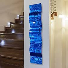 statements2000 blue modern metal wall art accent wave home accent home decor abstract wall sculpture azul wave by jon allen 46 x 10  on blue abstract metal wall art with amazon blue 3d abstract metal wall art sculpture wave modern