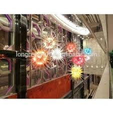 blown glass contemporary creative glass many color large hotel ceiling hanging hand blown glass blown glass
