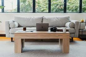 the coolest wooden coffee table with