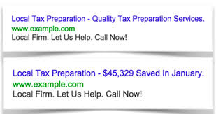 ways to write super effective adwords ads real examples adwords local tax prep