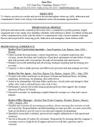 sample real estate resumes sample realtor resume      a professionally written real estate agent resume example pdf   sample realtor resume