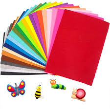 Azure Felt 5 Sheets Craft Thin Felt <b>Solid Color Patchwork</b> cm 30x40