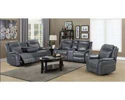 leather gel reclining sofa with drop
