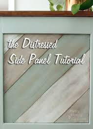 diy tutorial antiquing wood. Wonderful Tutorial Distressed_side_panel_tutorial In Diy Tutorial Antiquing Wood