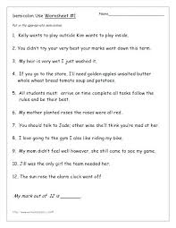 Semicolons And Colons Worksheets Semicolon Colon And Comma Quiz By Mother Hen Semicolon Colon And