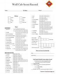 Wolf Advancement Chart Fillable Online Scouting Cub