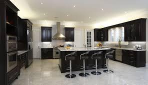 Painted Black Kitchen Cabinets Kitchen Beautiful Kitchen Cabinets 52 Dark Kitchens With Wood