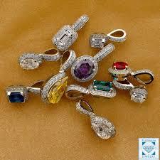 cubic zirconia pendants in platinum