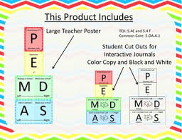 Pemdas Poster And Student Charts Intervention