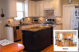 reface kitchen cabinets before after cabinet refacing gallery