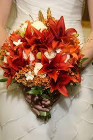 ideas burnt orange: burnt orange wedding bouquets brides fall bouquet burnt orange lilies and ivory