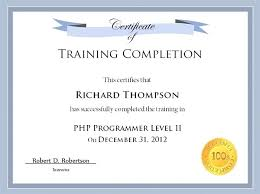 Training Templates For Word Word Templates For Certificates Training Certificate