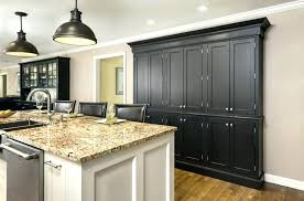 grey stained maple cabinets kitchen