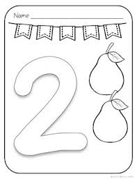 Numbers coloring pages for kids. Number Coloring Pages 1 To 10 Pages With Large Numbers And Coloring Pictures