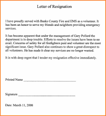 Examples Of Resignations Letters Give Best Example Resignation