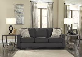 Living Room Stylish Grey Leather Sofa For Modern Living Room